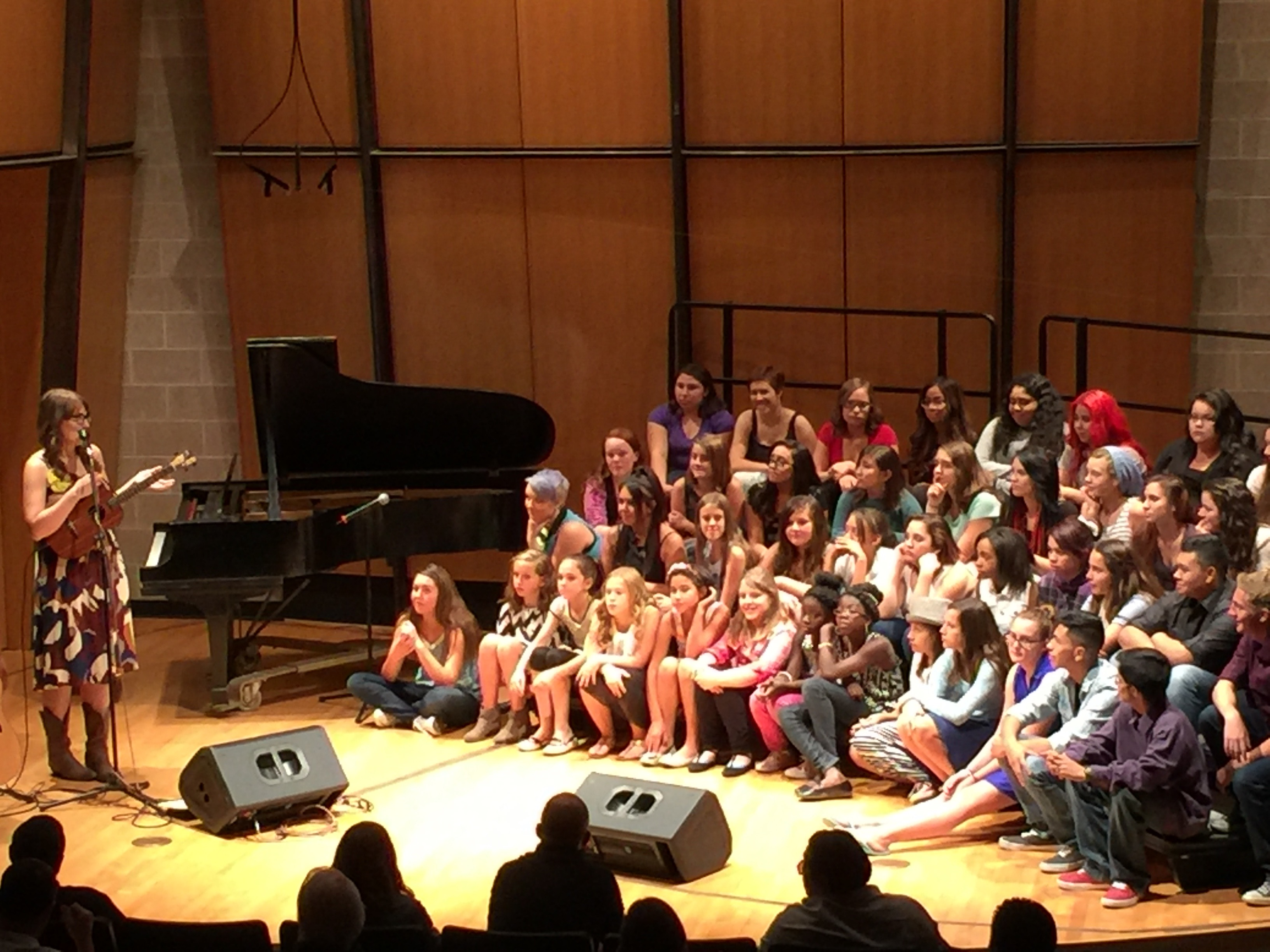 Danielle Ate the Sandwich, in concert with 3 Denver youth choirs in the King Center on September 21, 2015.