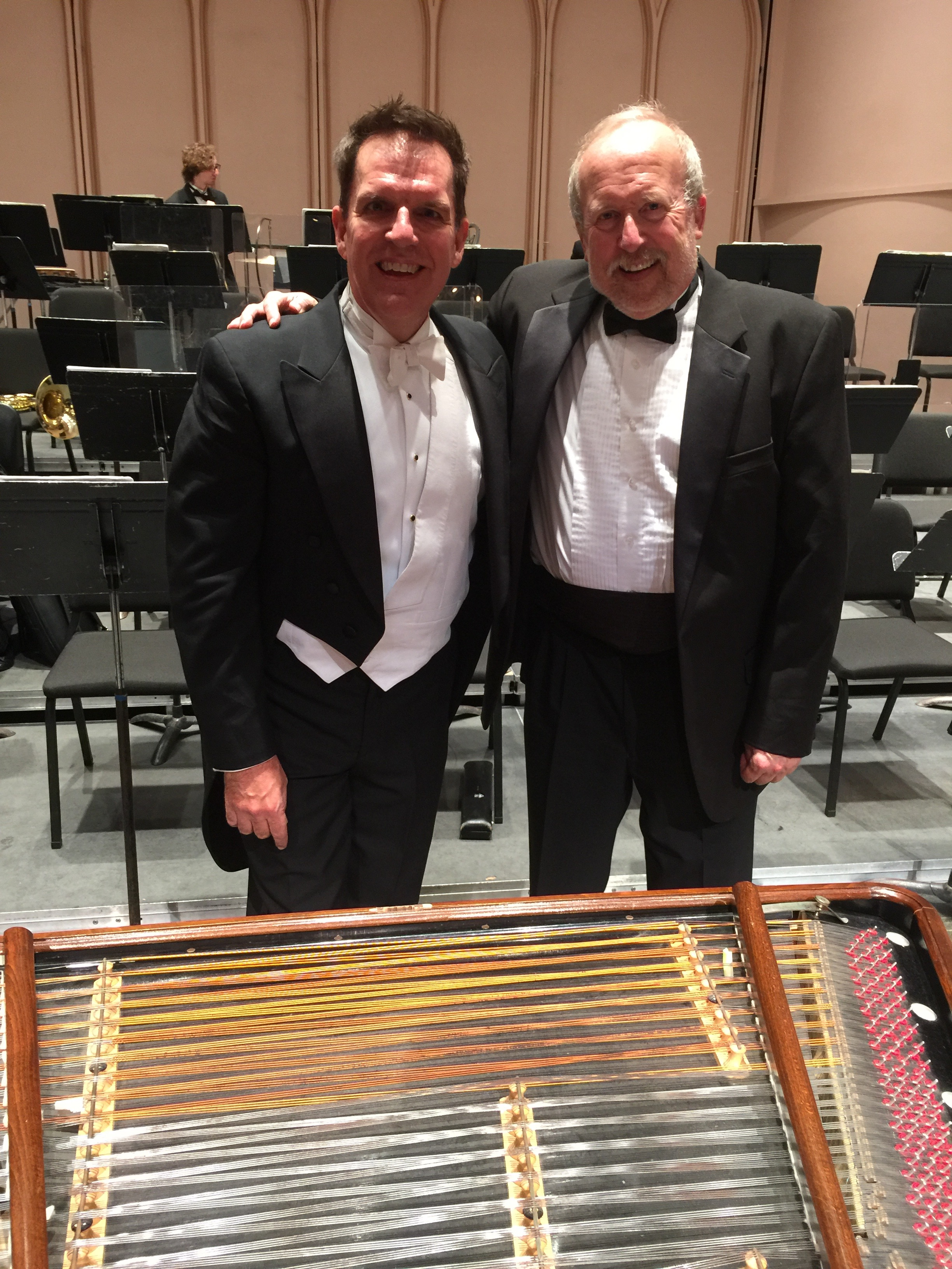 Pictured here with conductor of the CU Symphony--Gary Lewis.