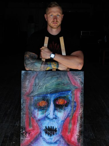 Iraq veteran Curtis Bean, who served in the Army from 2003 to 2008 as a sniper with the 10th Mountain Division, started the Art of War Project in Denver to help veterans channel their creative energies.  Jon R. Anderson/Staff