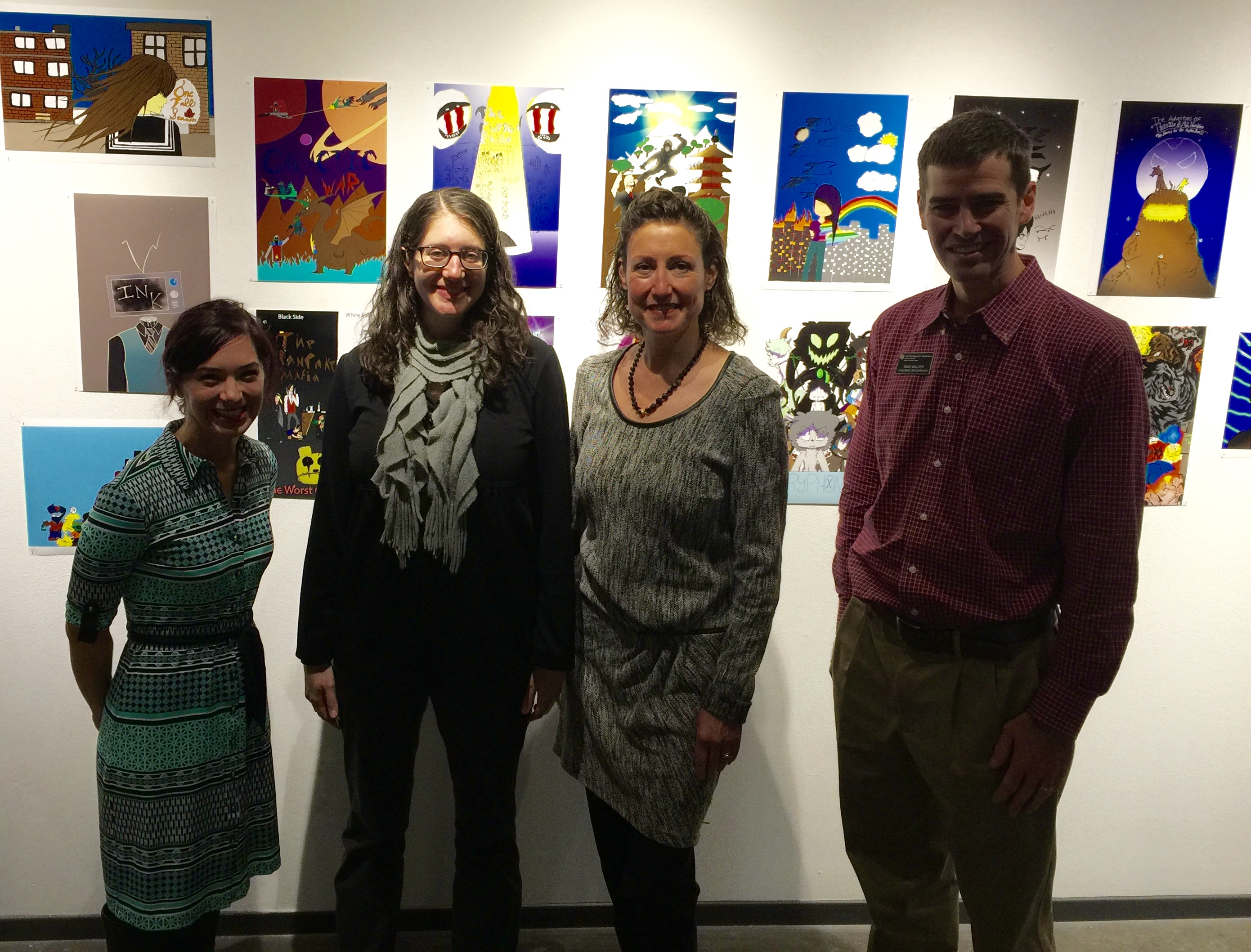 Marianna DiVietro, Sarah Atlas, Antonia Contro, and Dave Walter