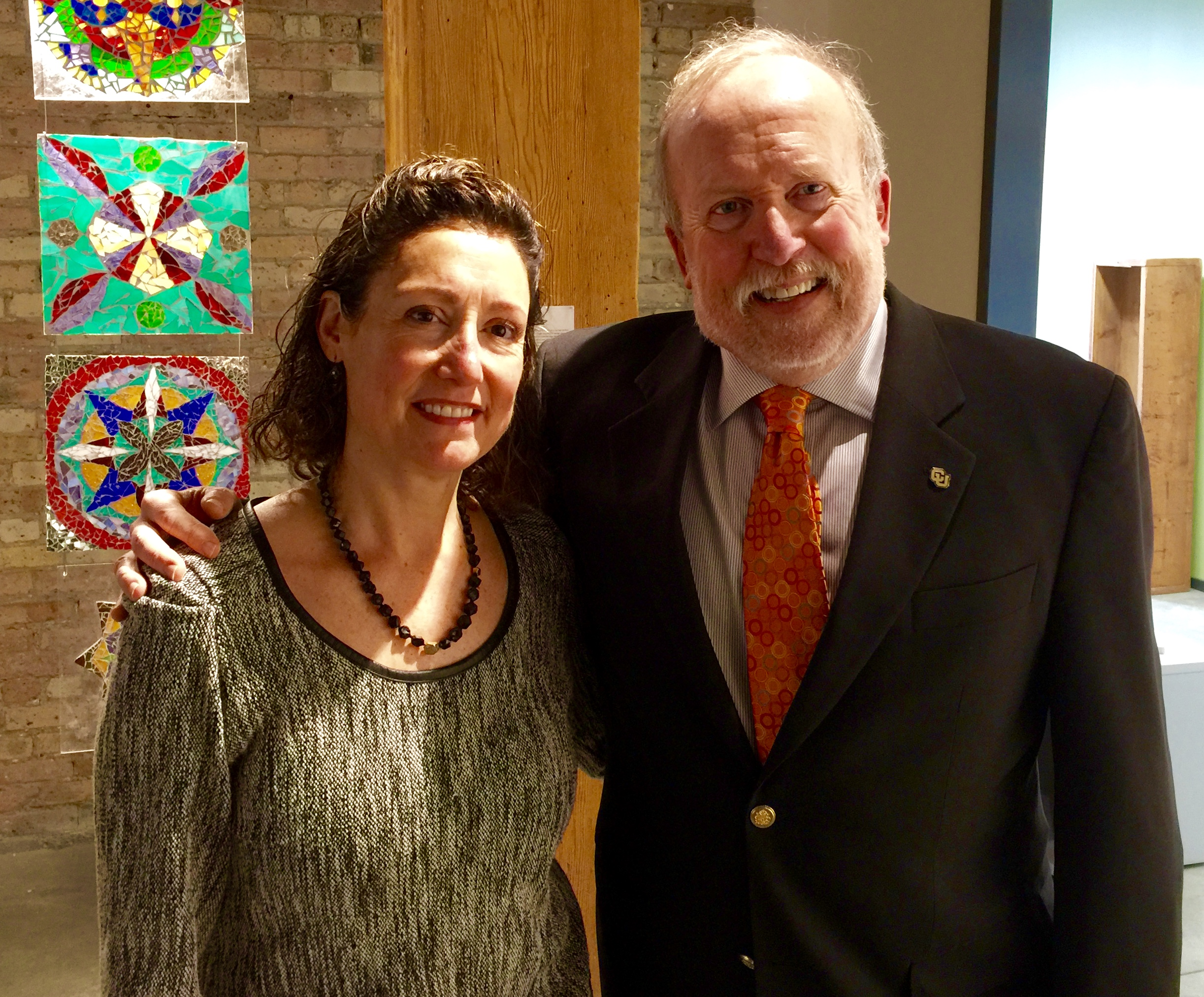 Antonia Contro and Dean Larry Kaptain