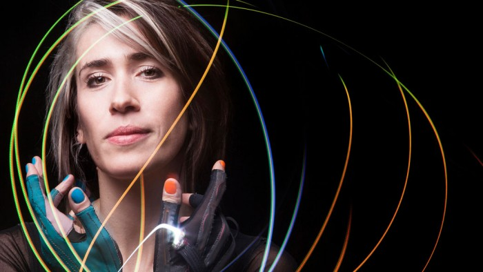 Imogen Heap using her Mi.Mu gloves. Photo: Fiona Garden.