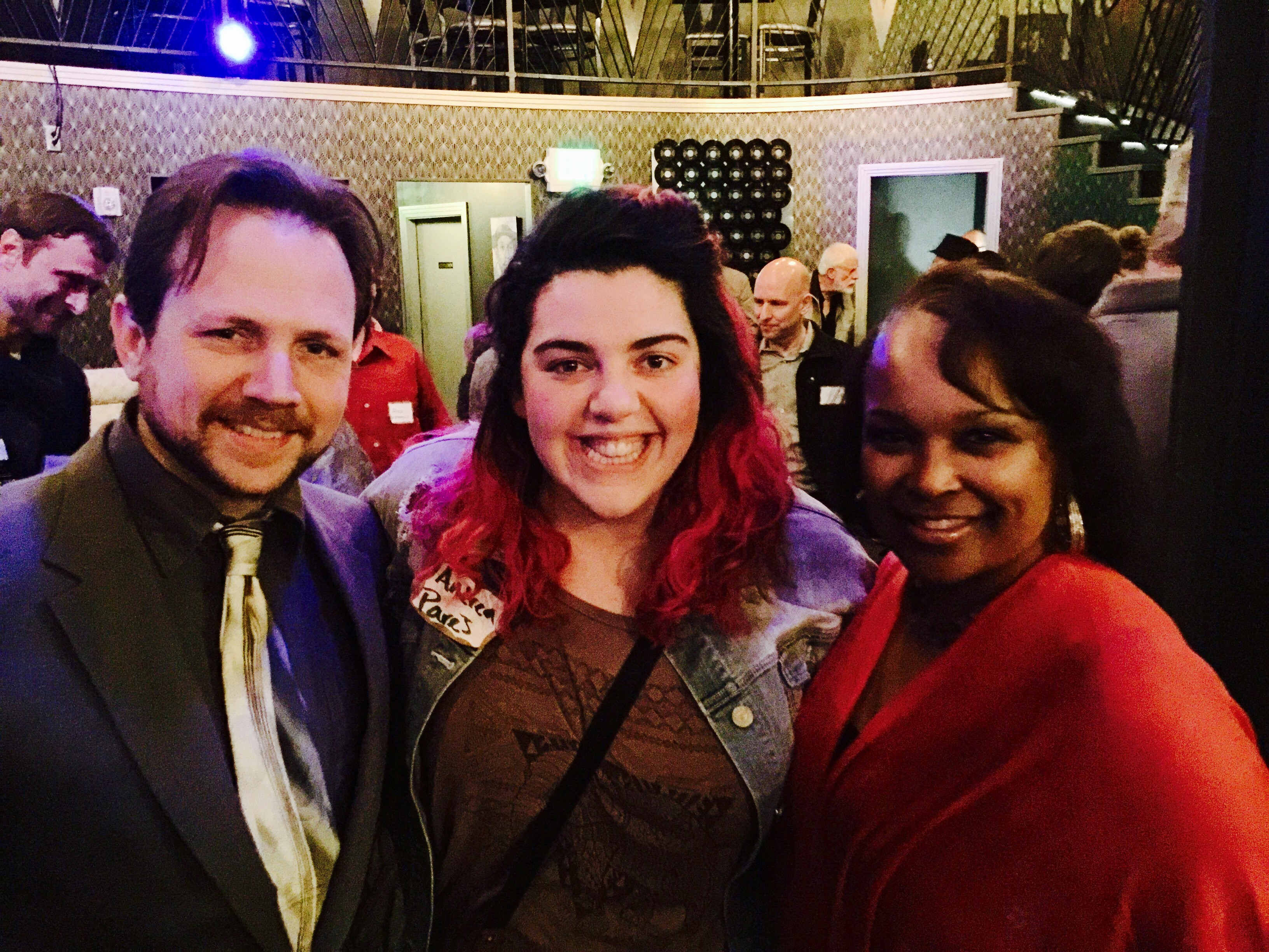 Prof. Peter Stoltzman, music student Andrea Pares, and Denver's First Lady Veteran actor and Singer Mary Louise Lee