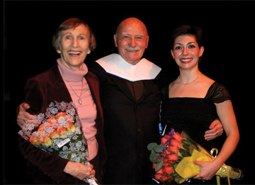 Claudia Gitelman, Dr. Murray Louis and Kim Gibilisco