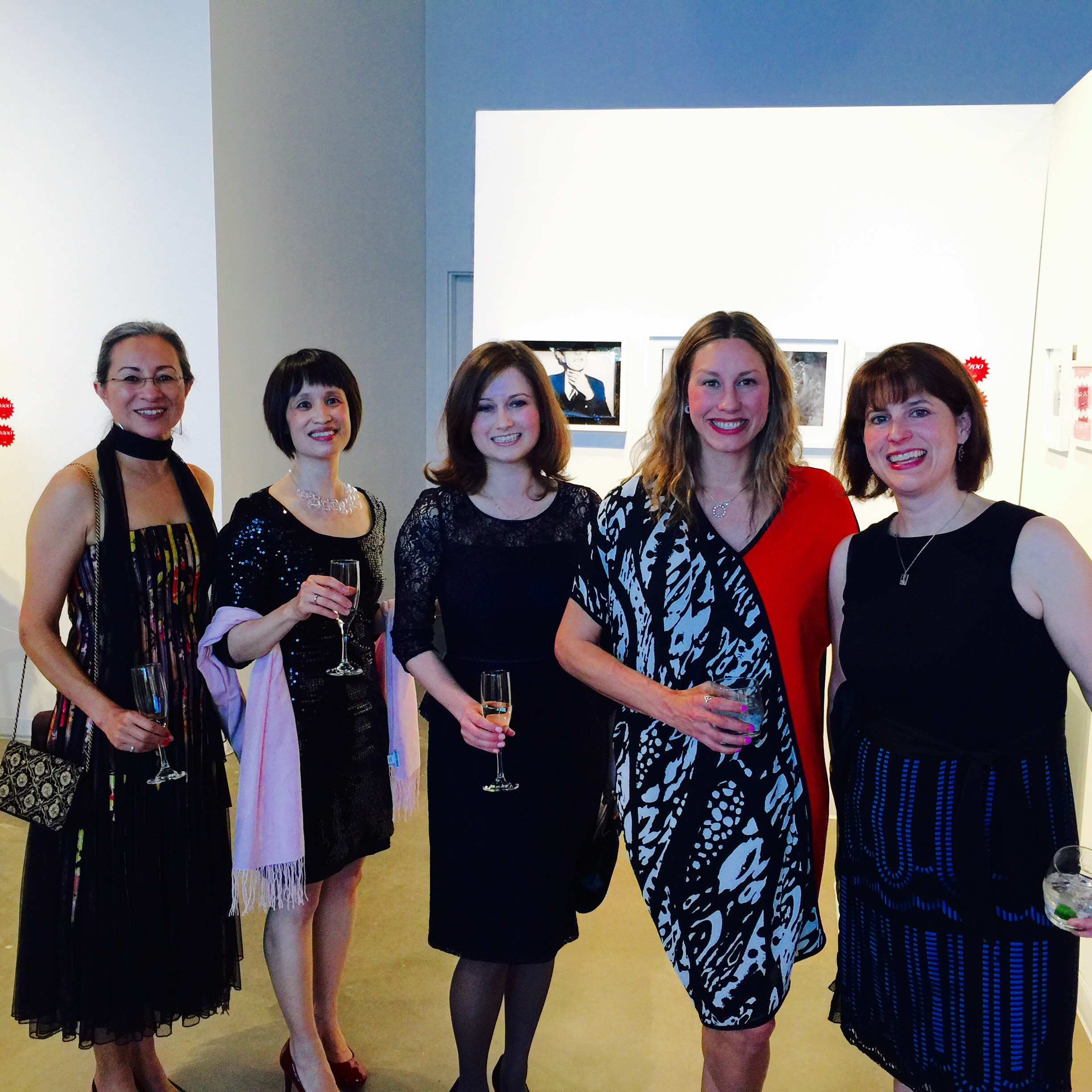 Alumni, friends and staff of the College of Arts & Media: Dolores Arce-Kaptain, Jing Yeng Lim, Elena Reznikova ('10), Jessica Brack (Museum of Outdoor Art in Englewood) and CU Denver Senior Director of Development Noelle DeLage