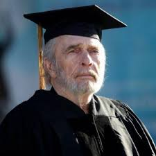 Merle Haggard received an honorary doctorate from CSU Bakersfield