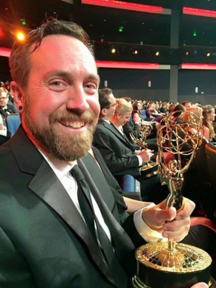 Tim Kimmell ('98) and his Emmy