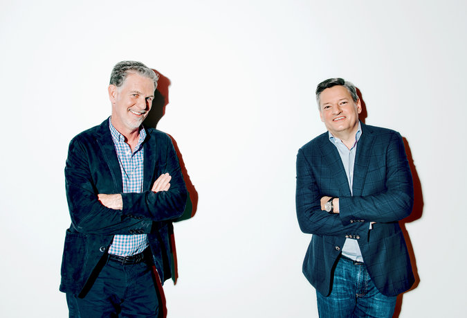 Reed Hastings, chairman and chief executive, left, and Ted Sarandos, chief content officer. Credit Peter Earl McCollough for The New York Times