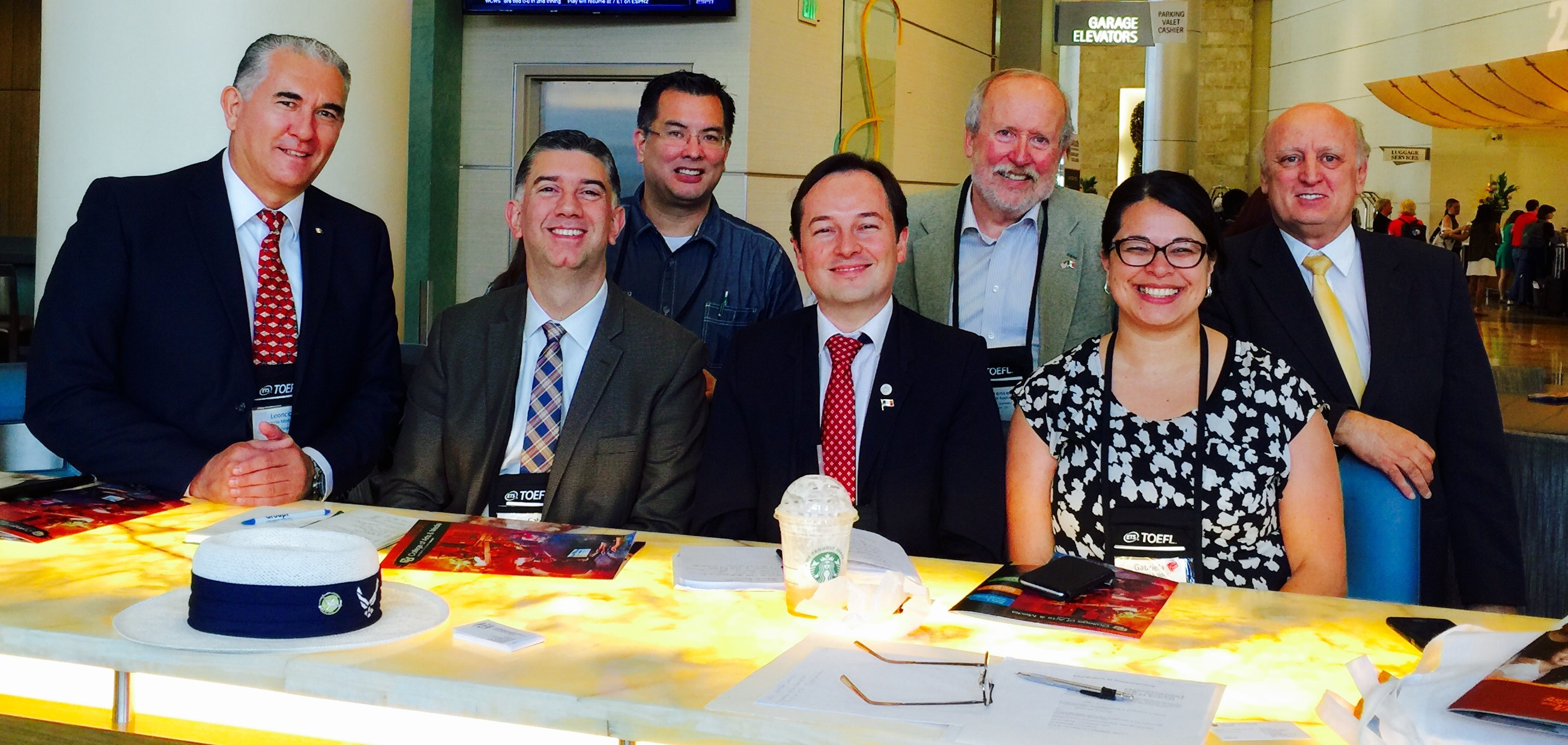 Dean Kaptain with academic/cultural leaders from Guadalajara, Mexico.