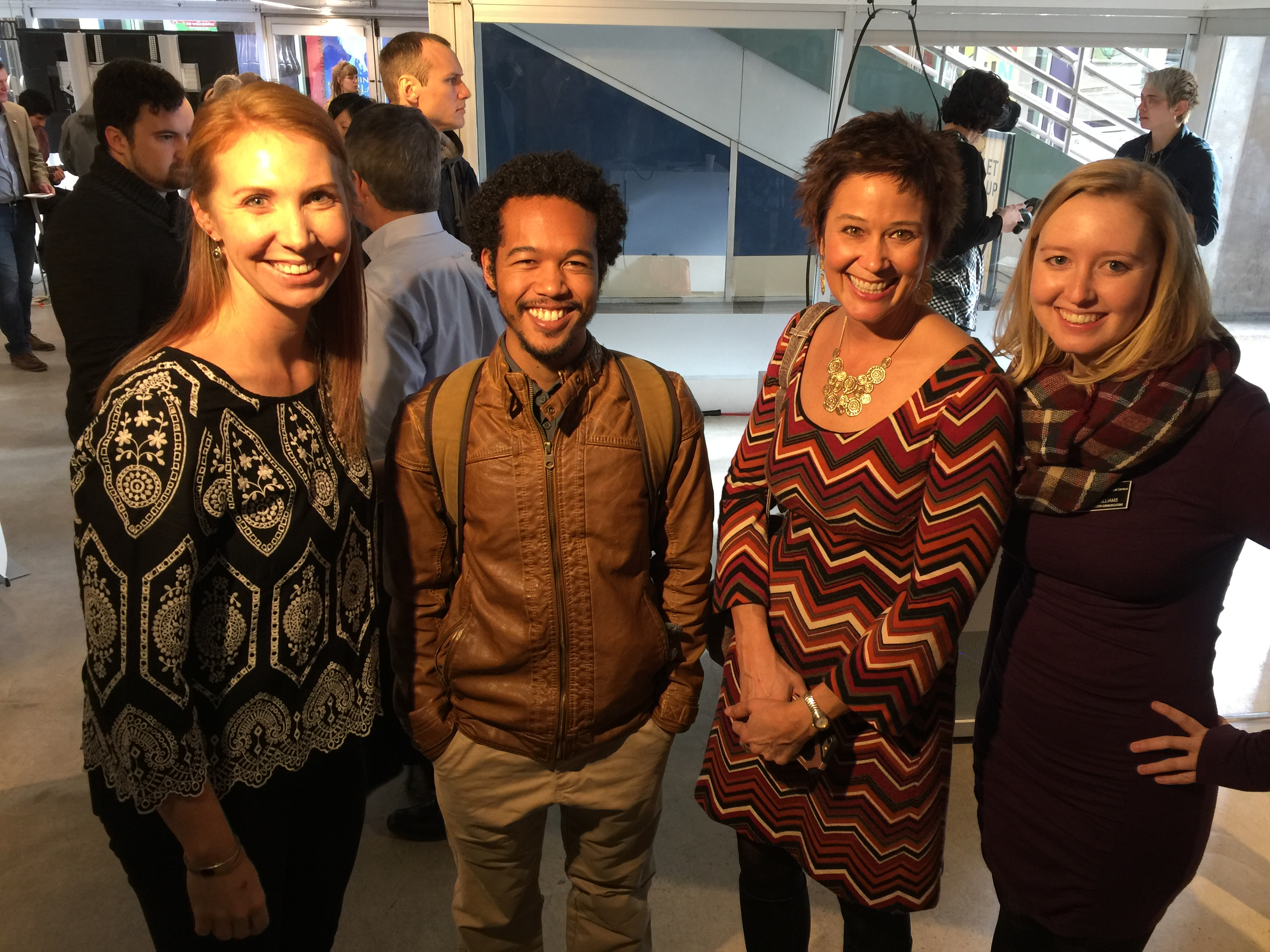 The UComm Team: Laura Parker, CAM student Robbie Fikes IV, Leanna Clark and Emily WIlliams