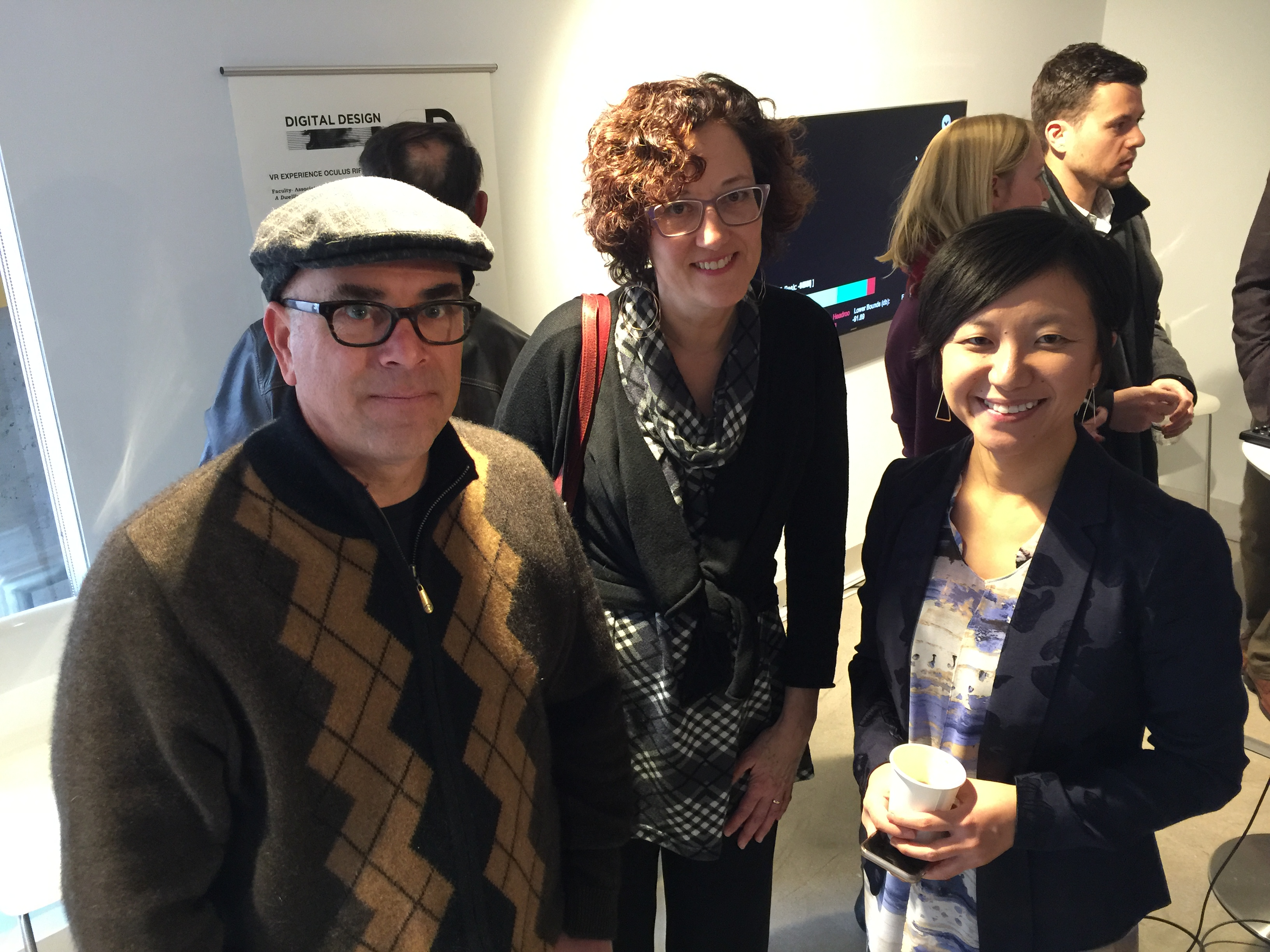 Profs. Bryan Leister, Becky Heavner and Yang Wang